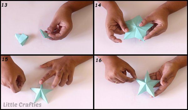How to make a 3D paper star | Easy origami stars for beginners ... | 350x600