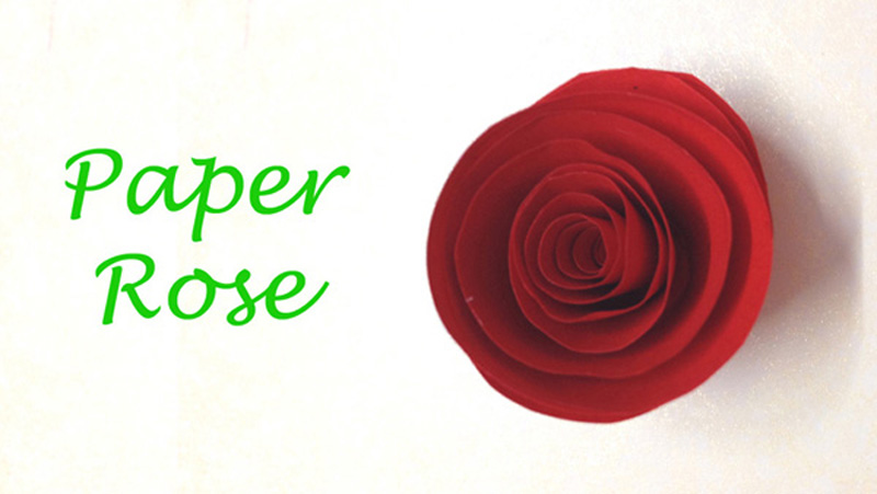 Paper flowers rose diy tutorial easy for children/origami ... | 451x800