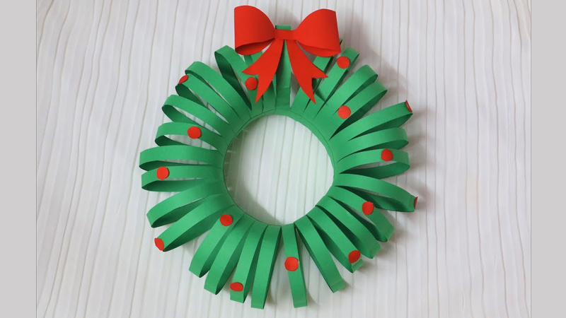 Diy Christmas Wreath Paper Wreath Christmas Decoration Ideas