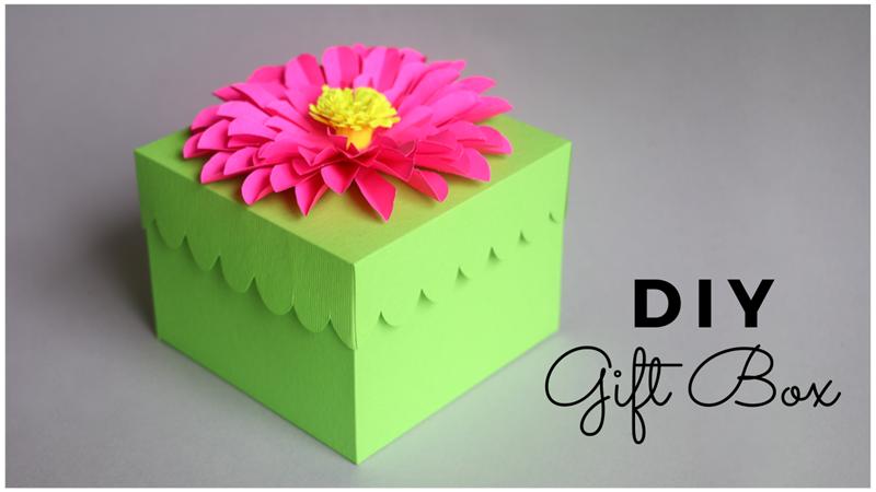 Diy Gift Box Handmade Gift Box Free Gift Box Template Paper Crafts