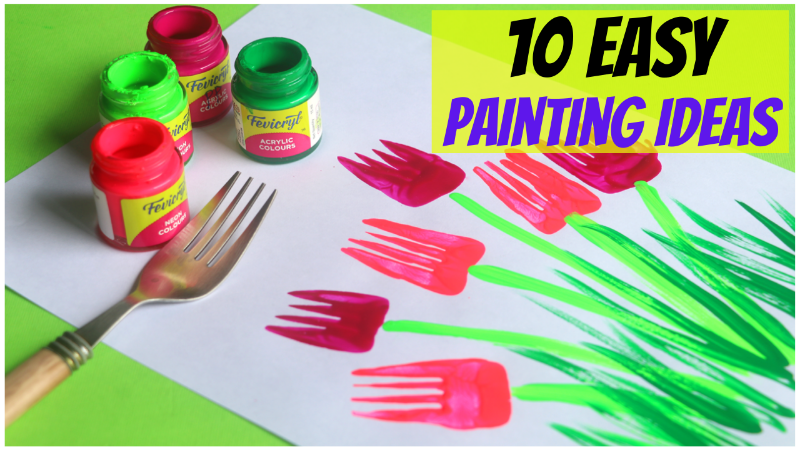 10 Easy Painting Ideas For Kids Vegetable Painting Finger Painting