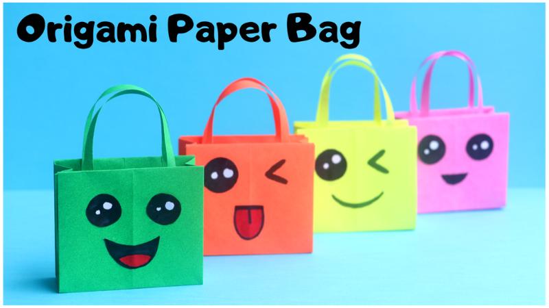 How to make a paper purse for girls | Easy origami handbag ... | 450x800